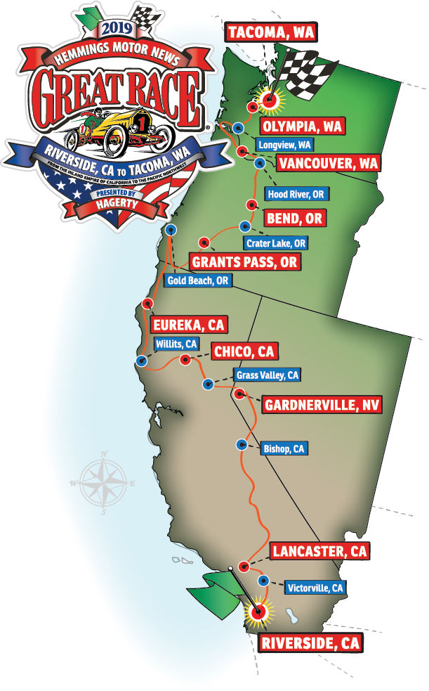 2019 Great Race Cities