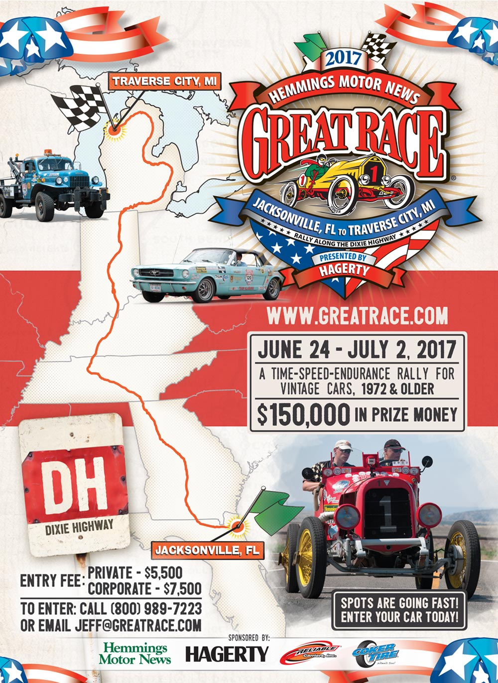 2017 Great Race Cities