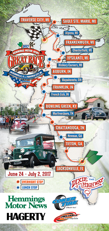 2017 Great Race Cities