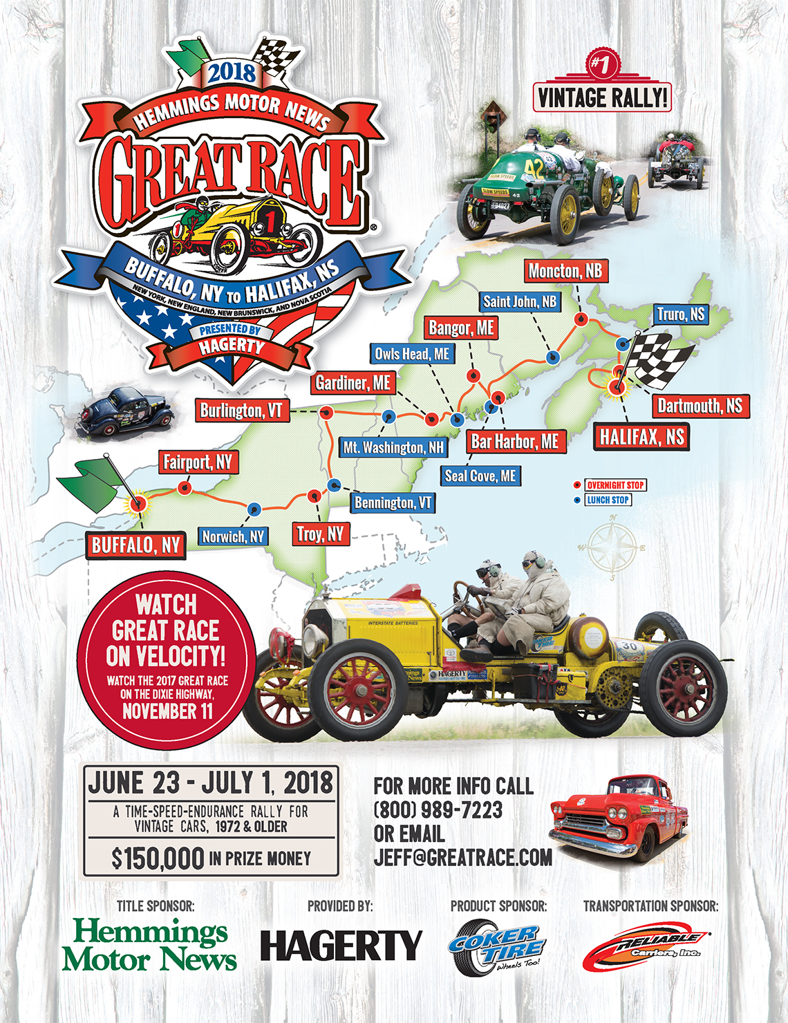 2018 Great Race route